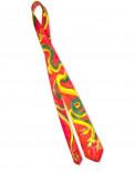 CHINESE DRAGON - Corbata y pañuelo de bolsillo de seda pintado a mano - Diseño único