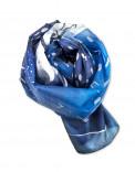 SNOWY PEAKS - Pañuelo de seda pintado a mano - Diseño único