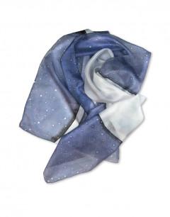 Mantarraya - Pañuelo de seda pintado a mano
