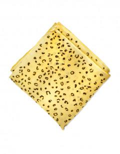 Leopardo - Pañuelo de seda de bolsillo pintado a mano