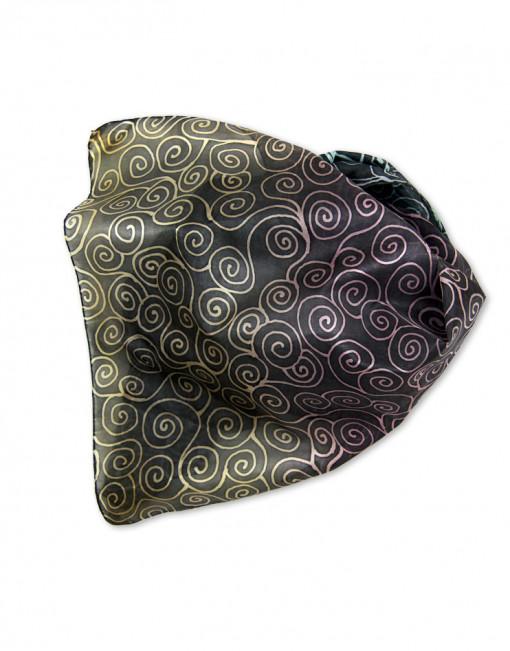 Chinese waves - Pañuelo de seda pintado a mano