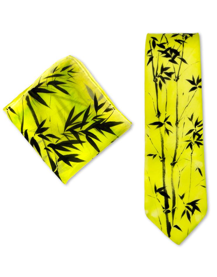 bambu sumi e corbata de seda pintada a mano para hombre vacomolaseda. Black Bedroom Furniture Sets. Home Design Ideas