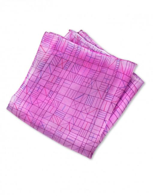 Chip - Pañuelo de seda bolsillo pintado a mano