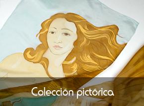 Colección de pañuelos de seda pintados a mano inspiración pictórica