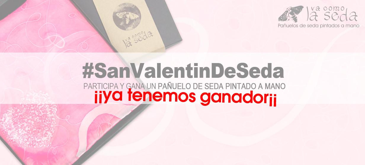 Ganador Concurso #SanValentinDeSeda - Vacomolaseda pañuelos de seda pintados a mano